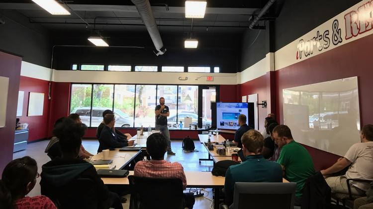 Ryan Weber teaching incubator class