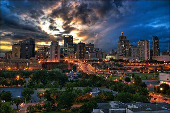 St. Paul city skyline