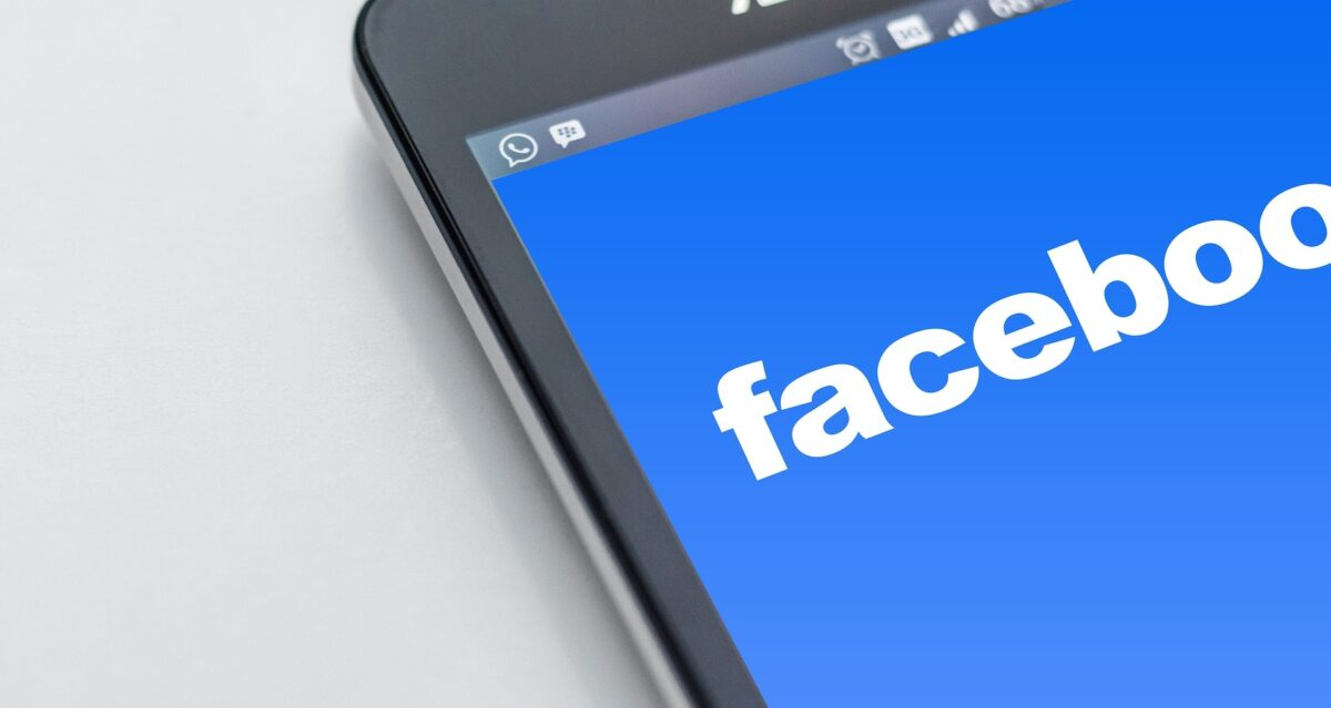 facebook on cell phone screen