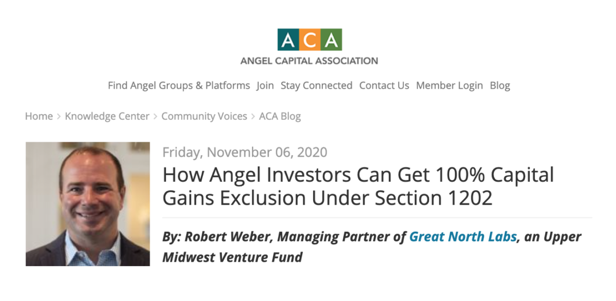 ACA Angel Insights Blog
